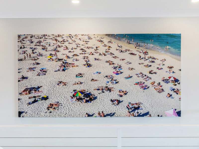 Beach photo on wall